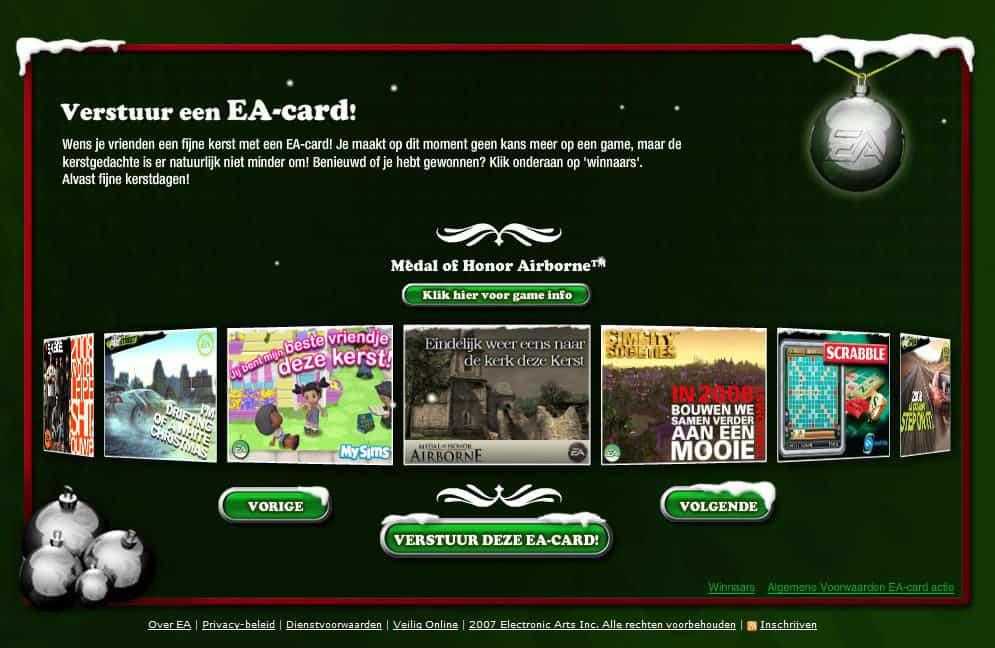 20 verschillende EA-cards voor 20 games