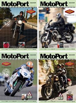 De vier MotoPort Magazines van 2008