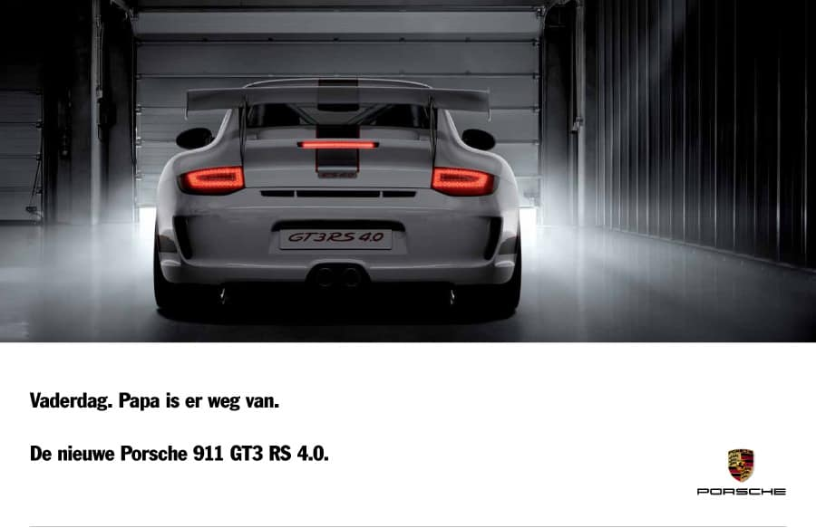 Porsche Billboard Voor Vaderdag Door Freek Van De Wijdeven