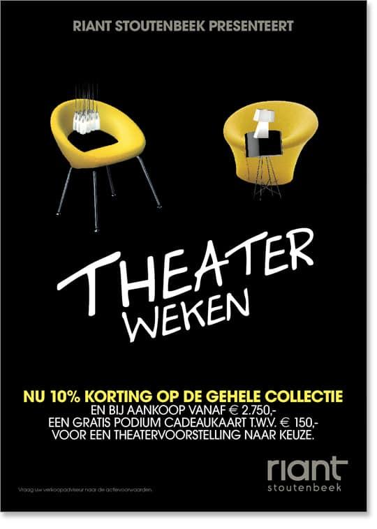 Riant-Stoutenbeek Theaterweken Poster 1 door Freek van de Wijdeven