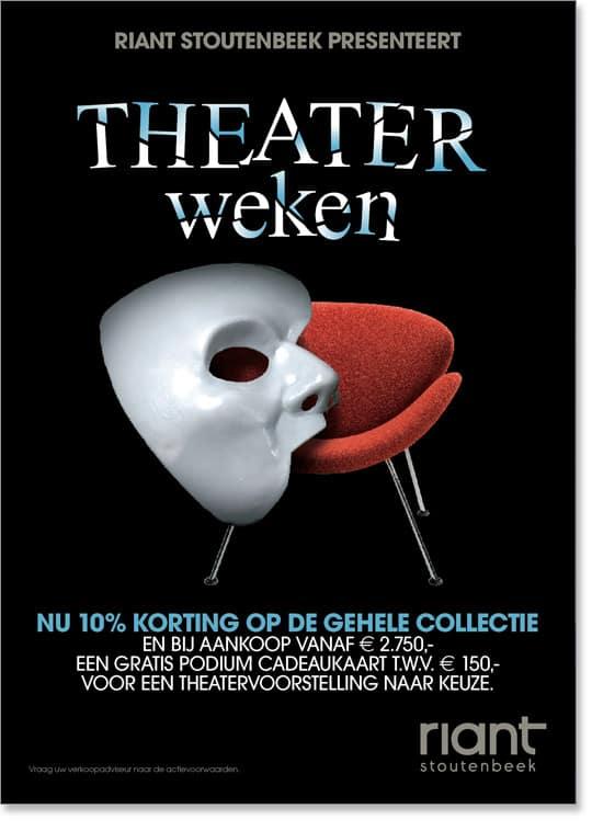 Riant-Stoutenbeek Theaterweken Poster 2 door Freek van de Wijdeven