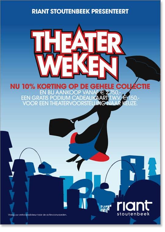 Riant-Stoutenbeek Theaterweken Poster 3 door Freek van de Wijdeven