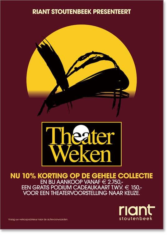 Riant-Stoutenbeek Theaterweken Poster 4 door Freek van de Wijdeven